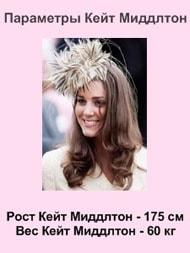 Кейт Мидлтон, рост, вес